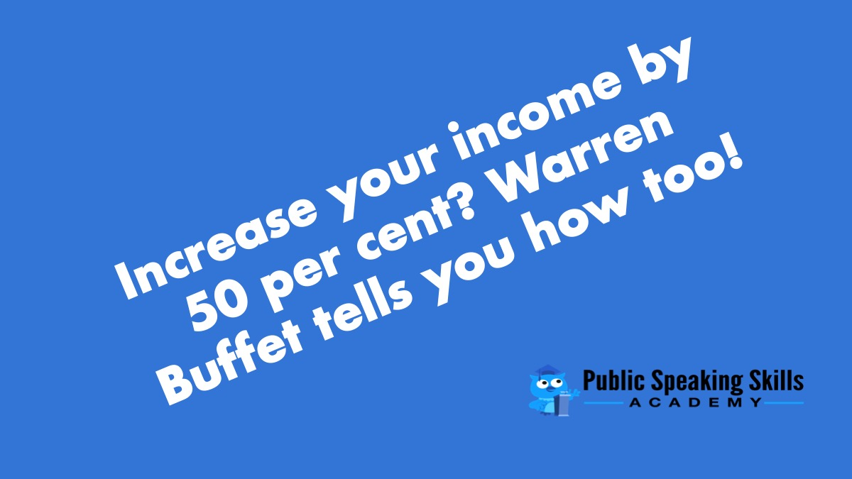 How to increase your income by 50%